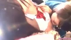Thai School-Girl Kissed Getting Her Pussy Fingered By 2 Older Girls On The