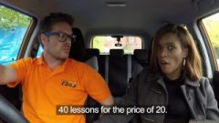 Fake Driving School Young Ebony Learner Loves Cream Pie For Free Lessons