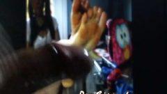 High School Girl Feet: Quickie Spunk Tribute