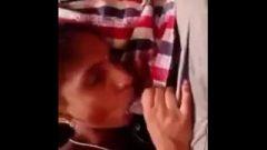 Indian School Girl Blows Tool In Goa Beach