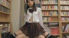 School-Girl In Uniform With An Ultra Short Miniskirt Knee High Socks 2