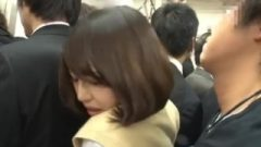Shy And Perfect School Girl Immediately Molested In The Train Without Notic
