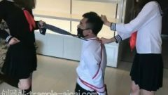 Chinese Femdom University Whores Torture Bondage Slave Ball Busting Trample Kick