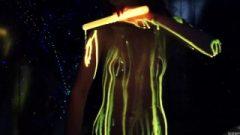 Experimenting With Glowstick Goo With Super Flirtatious Highschool Female Areana Fox