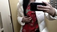 Public Elevator Mirror Selfie Clip – Starved On My Way To College – Outside