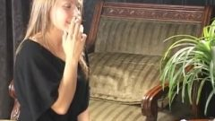 2 Provocative Teen Babes Smoking Provoking In Old University Full Length