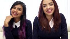 School-girls Threesome Sharing Spunk Youthlust