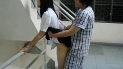 Thai Pupil Outdoor Sex In Uniform And Pajamas